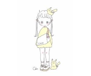 fashion, girl, and illustrator image