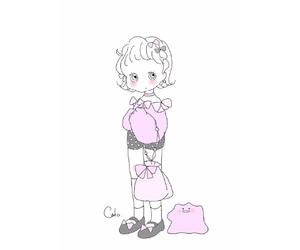 girl, illustration, and illustrator image