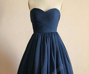 blue, bridesmaid, and dress image