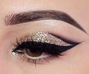 make up, beauty, and glitter image