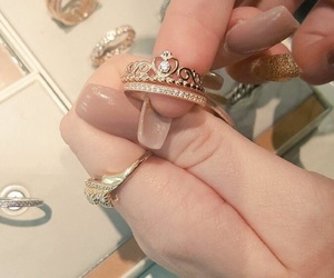 ring, nails, and pandora image
