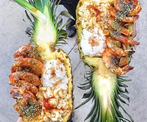 food, pineapple, and shrimps image