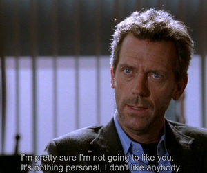 house, dr house, and quote image