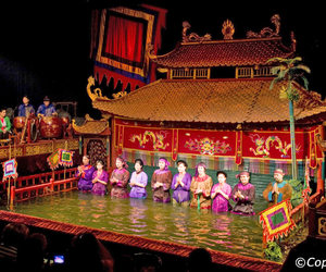 hanoi, thang long, and water puppet theatre image