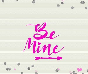 be mine, glitter, and pink image
