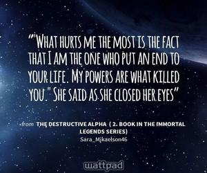 dark, supernatural, and wattpad quotes image