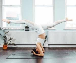 vegan, white, and yoga image