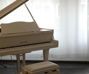 aesthetic, piano, and white image