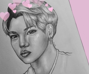 art artsy creative, pastel pale grunge, and drawing pink kpop image