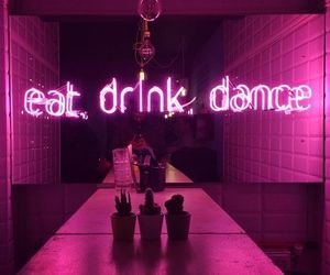 neon, pink, and dance image