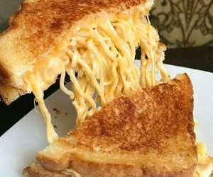 cheese, ramen, and delicious image