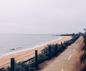 beach, road, and travel image