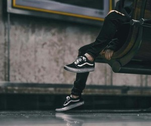 black and vans image