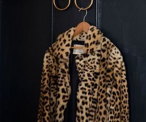coat, leopard, and print image