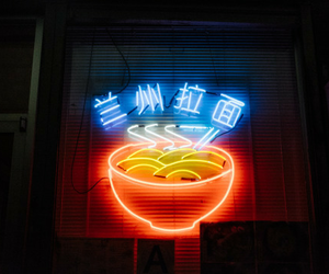 neon, light, and food image