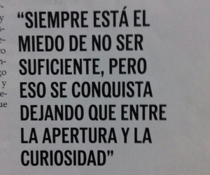 curiosity, fear, and frases image
