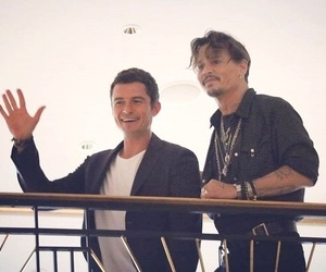 johnny depp, orlando bloom, and pirates of the caribbean image