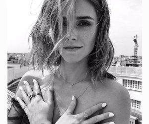 emma watson, beauty, and black and white image