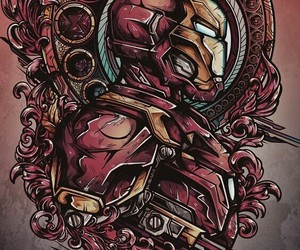 iron man, wallpaper, and Marvel image