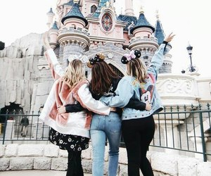 disney, friends, and castle image