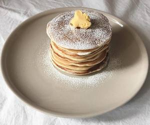 food, pancakes, and delicious image