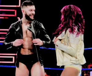 couple, sasha banks, and finn balor image