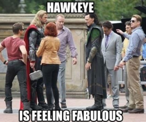 hawkeye, funny, and Avengers image
