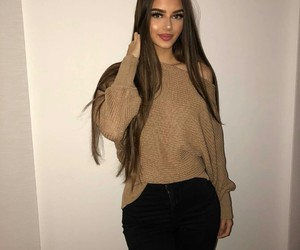 long hair, pretty girl, and beautiful lady image