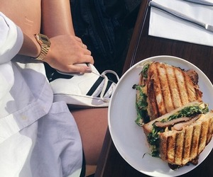 food, adidas, and sandwich image