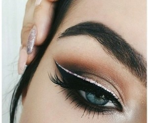 makeup, eyeshadow, and eyes image