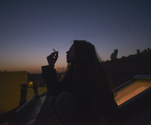 girl, smoke, and tumblr image