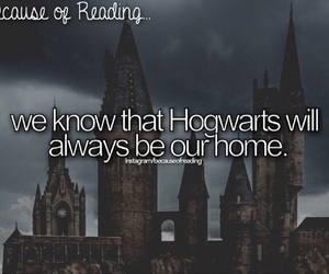 hogwarts and because of reading... image