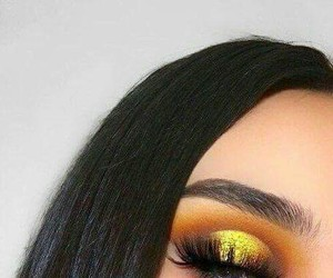 Easy, eyes makeup, and golden makeup image