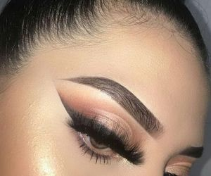 contour, eyelashes, and girl image