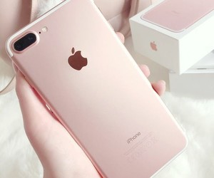 iphone, rose gold, and apple image