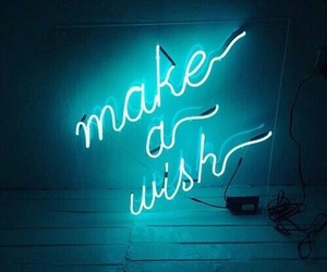 blue, neon, and wish image