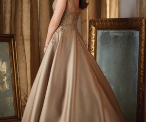 dress, gold, and lovely image