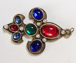 etsy, pearls, and red blue green image