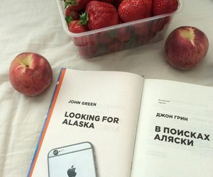 book, iphone, and peach image