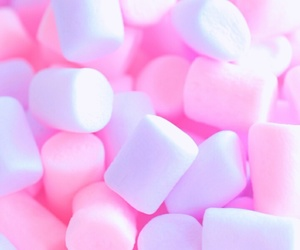 marshmallow, pastel, and pink image
