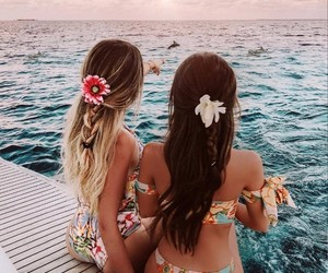 flowers, summer, and friends image