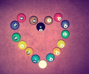 coracao, heart, and snooker image