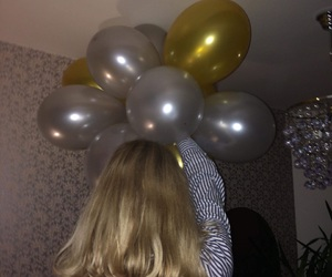 aesthetic, balloons, and bff image
