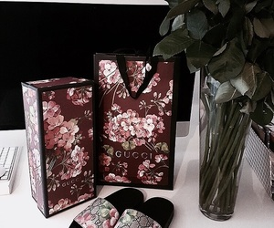 gucci, fashion, and flowers image