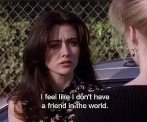 quotes, friends, and alone image