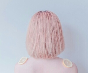 pink, hair, and pale image