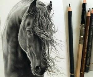 art, animal, and black image