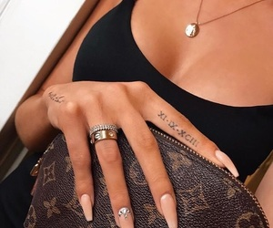 nails, tattoo, and style image