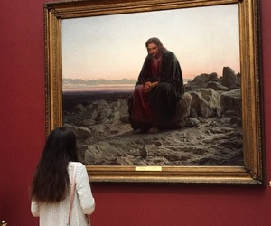 art, jesus, and picture image