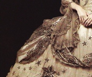 dress, gold, and marie antoinette image